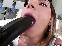 Brunette Juelz Ventura with giant melons and smooth pussy gets her love box filled full of cock in hardcore action with hot man