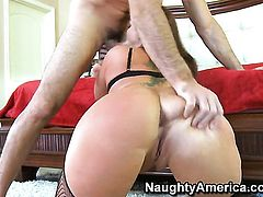 Charles Dera shows nice sex tricks to Flower Tucci with big ass and trimmed snatch with the help of his hard love wand
