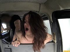 Hot chick with great tits and ass can't afford a taxi ride. But since there is no such thing as a free ride, they gotta pay with their bodies. They suck dick, ride em and bend over to take em into their tight pussies. Don't you wish you were a taxi driver now?