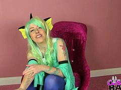 Skyler Sin is one horny British babe with a pale skin natural body. Her perky tits and her funky accent combined with her hunger for cock makes her the perfect Pokemon Cosplay.