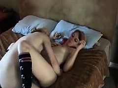 Erika, a blonde, and Aeon Angel, a redhead, don't talk much in this video, they get straight to business! We see these two young things on bed hugging and kissing.