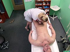 bitch dressed up as a nurse blows a patient