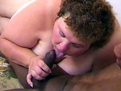 Ugly Fat Slut sucks and fucks a big black cock