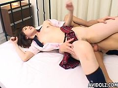 Lorita is a sexy Asian babe who gets to be fucked by her man who she loves dearly. The way they fuck is so sensual and very erotic. Lorita cums from the session.