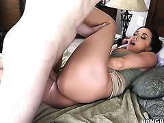 Brunette Chanel Preston has a good time touching Megan Rains love hole