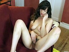 British girl shows us her hairy bush so you can stroke