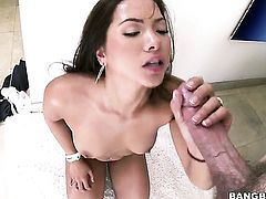 Brunette with big ass is skilled enough to make dude cum again and again