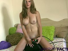 Willow has a massive orgasm the first time she rides the sybian.