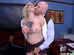 attractive harlow harrison gets dirty at school