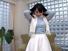 Kokona Sakurai is an amateur Japanese lady that is very shy. But she beats her fear of exposure on this video. When she is offered cash for solo girl display.
