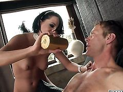 Rocco Siffredi gets seduced by Tara White and then fucks her mouth after back swing fucking