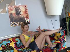 Athletic senorita is happy to provide her lover with a cowgirl ride