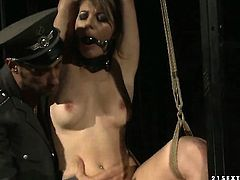 Brunette Norah Swan gets her twat fucked by horny guy for your viewing entertainment