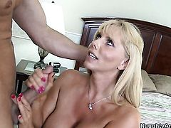Bill Bailey cant wait any longer to insert his ram rod in completely cute Karen Fishers hole