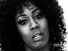 Darky Misty Stone has some dirty sex fantasies to be fulfilled with hot guy in interracial sex action