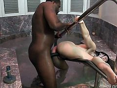 Jodi Taylor gets her mouth destroyed by guys worm