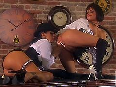 Alektra Blue and lesbo Tanya James are lascivious for every other