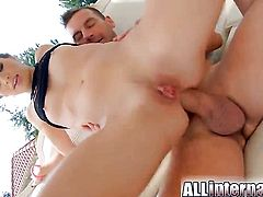Tiffany Doll gets fucked in the ass by the pool