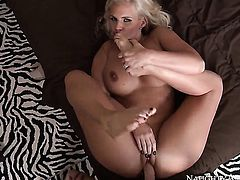 Huge ass blonde is in for a ride