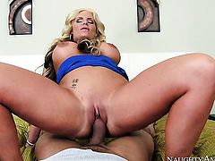 Blonde Phoenix Marie knows no limits when it comes to ass fucking