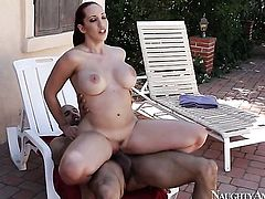 Tattoos Kelly Divine with phat ass and hairless cunt gets her nice face covered in man semen after sex with hot man