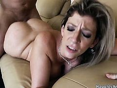 John Strong plays with enchanting Sara Jays pussy before he fills her hole with his throbbing worm
