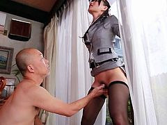 Beautiful and slender Japanese girl fucked in a compilation