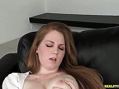 Piercings doll with hairless twat is addicted to cum