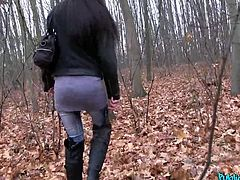 Angel seemed so shy at the beginning, but with some money, she takes some courage too, so we went into a small forest, where she took off all her inhibitions. She just loved to have her mouth filled with my big fat dick. What a good girl!