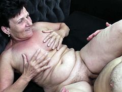 Wrinkled and saggy granny fucked in her beautiful cunt
