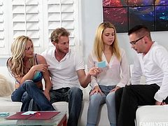 Mum and her new husband really want their daughter and son to hit it off and feel comfortable living together, so they decide to have a game night. What they didn't tell them, is that the game will involve sexual acts. Watch as both the siblings become closer and we mean physically!