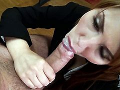 Senorita Hanna Montada blows the jizz out of ram rod
