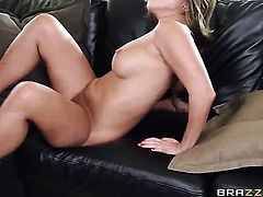 Milf Akira Lane and her hard cocked fuck buddy enjoy interracial sex too much to stop