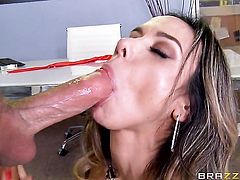 Milf chicana Jessy Jones with big tits gets face drilled the way she loves it