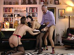 Jim Slip is one of the luckiest man alive, because his wife, Lara, wants him to fuck as many fresh horny sluts, as he wants. Today, he fucks sweet brunette Ava, being helped as usual, by his wife... Watch and enjoy!