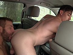 This man thought he can drive in a cab for free. But one rule he cannot escape. Gas, grass or ass! He was naughty and he had to be punished. Price was his tight ass. He gets fucked by a brutal top, who will stop at nothing, in order to stretch his asshole wide. Backseat anal destruction!