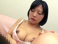 I will come in her hot pussy. This Japanese slut rode me and bounced up and down my cock. I went so deep insider of her and she loved it. She moaned so loud, as I fucked her hard. This babe needs my cock always.