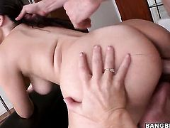 Blonde Simone Sonay with bubbly booty is too horny to resist dudes sturdy love stick