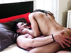 Marco Banderas buries his hard fuck stick in fabulously hot Kira Noirs mouth