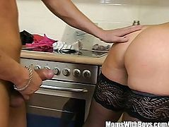 Hawt Aged In Laced Nylons Kitchen Anal Fuck