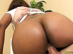 Brunette african gets her vagina fucked interracially by horny dude for your viewing entertainment