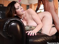 Brunette Tyler Page with juicy bottom and hairless twat gets painted with man goo