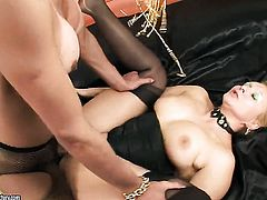 Blonde chica Melissa Del Prado gets turned on then anally rammed