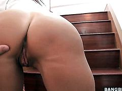 Blonde chachita vixen Tara Holiday with juicy ass gets the hole between her legs pounded by mans hard rod