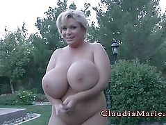 Claudia Marie Plump And Has Her Giant Fake Love Melons Destroyed