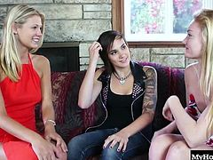 Dynamite, Nikki Adam and Scarlet Red are all cousins that love to get a little rowdy every time their families get together for a holiday. They are always left alone by the elders, so no one ever catches them licking each others pussies and rubbing them till orgasm all over the couch and living room rugs.