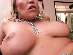 Austin Taylor with juicy knockers is so wet and so horny that gives headjob to Scott Nails just like crazy