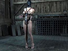 Kali is too obstinate and unwilling to obey his orders. Therefore, the unusual idea came into his head. He hangs her upside down and she has no other choice, than to open her mouth widely, and to take his dick deeply. How long she will be hanging, depend on how good she will be sucking her master's hard cock.