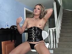 Blonde Jessie Volt gets her ass hammered silly by fuck hungry man