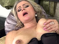 My mother-in-law was masturbating in her room. I removed her panty and started to finger her. She slipped down bra, squeezed her boobs hard, when I inserted my erected dick in her pussy, in cowgirl position. After that, she took my cock in her mouth and gave a nice blowjob.